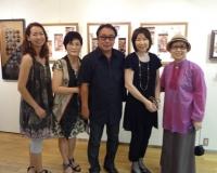 韓国からの招待作家の趙先生一行と田中先生、タムタム原画作家の田村映二氏、久しぶりの再会