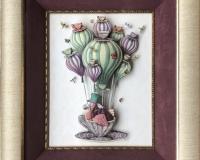 阿部 英美 Dodo Balloon with Dragonflies