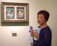 ヤブキワーククラス講師 本松千枝子先生 ギャラリーツアー